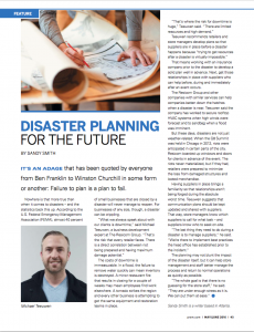Disaster Planning for the Future